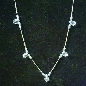 Givenchy Crystal necklace on silver tone chain